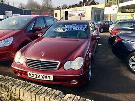 ** 2002 Mercedes-Benz C Class 2.0 C200 Kompressor Avantgarde 4dr **