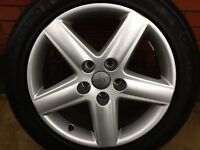 For sale Audi 17inch alloy wheel + continental sport tyre
