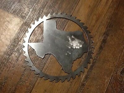 Saw Blade Style Texas Metal Art Plasma Wall Gate Decor -