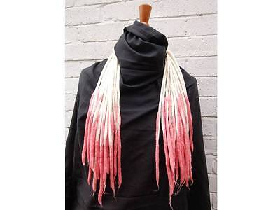 Blonde and Orchid Pink Transitional Dreadlocks -