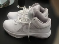 Nike white trainer boots