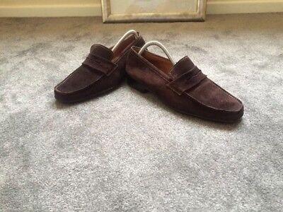 Jm Weston Loafers Suede Shoes Size 8 E For Men