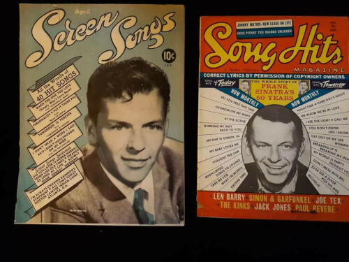 Frank Sinatra Song Hits 4/1966 & Screen Songs 4/1946 magazines
