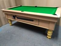 7x4 Beech slate bed pub pool table. New recover and new accessories included. Free Local Delivery