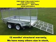 10X5 RAMP HOT DIP GALVANISED TRAILERS, NEW WHEELS,2000KG ATM Dandenong South Greater Dandenong Preview