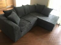 BRAND NEW DYLAN JUMBO CORD CORNER SOFA AND 3+2 SEAT IS AVAILABLE IN STOCK ORDER NOW