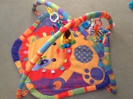 Colourful baby playing mat