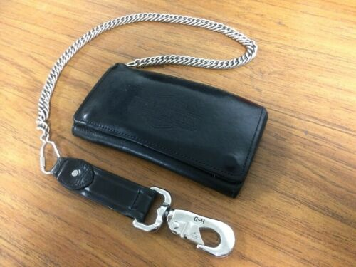 HARLEY DAVIDSON LEATHER WALLET WITH CHAIN