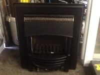 Gas fire marble back half