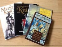 4 books on medieval knights and Celtic mythology