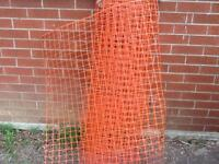 Wanted  .... Do you have any plastic construction fence ... Free