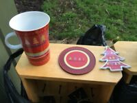 Large mug with coaster