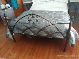 Hand Made Metal Bed & Side Tables One Off Unique