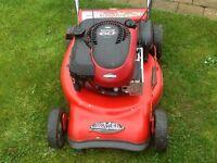 Rover petrol self propelled lawnmower
