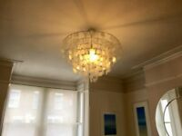 MOVING HOME SALE! Large Capiz Shell light fitting - central chandelier - & FREE smaller version