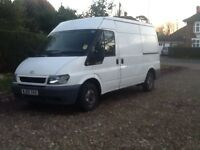 FORD TRANSIT 280 MW BASE 2005 MOT DECEMBER 2017 PLY- LINED ELECTRIC WINDOWS CAB BULKHEAD CLEAN COND