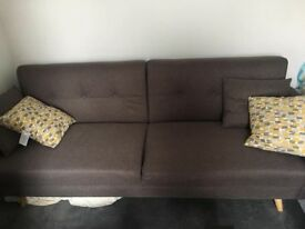 Like New - DFS lie flat sofa bed