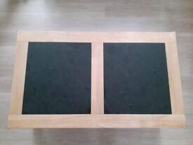 Granite Top Wooden Coffee Table