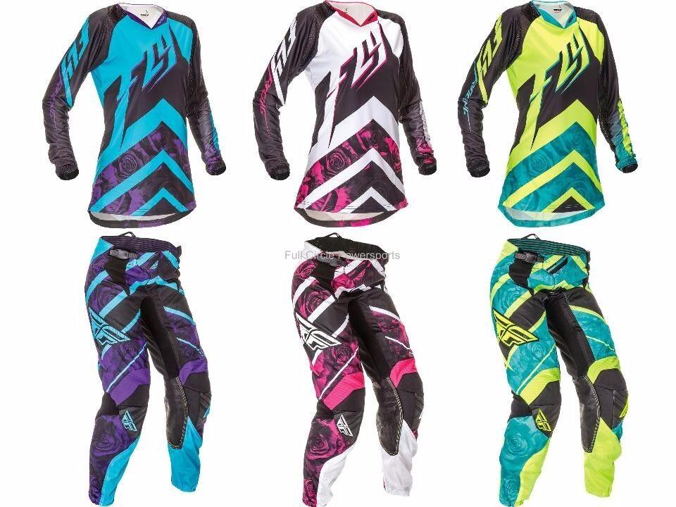 Fly Racing Kinetic Womenu0026#39;s Girlu0026#39;s Jersey u0026 Pants Motocross Riding Gear 2016 | eBay