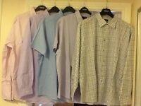 "Men's clothes bundle no.5 - 5 x long sleeve shirts 19.5"" collar"