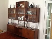Vanson Retro glass display cabinet, Contents not included.