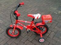 Apollo Fire Chief Kid's Bicycle with Stabilisers