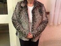 Faux fur ladies jacket