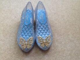 Girls Disney Store Dressing Up Shoes, Cinderella, Size 13-1
