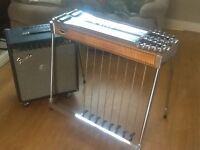 EMMONS D10 PEDAL STEEL GUITAR & 200 WATT FENDER STEEL KING AMP