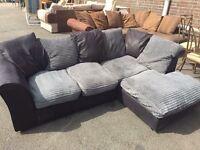 Black and grey corner sofa