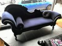 Beautiful black chaise lounge
