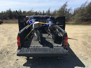 2 dirt bikes trade for sled