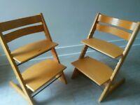 Stokke tripp trapp high chair X2 beech wood