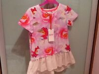 Beautiful Ted Baker pink floral top - Age 8/9 - brand new