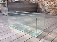 large glass fish tank 3ft by 1ft