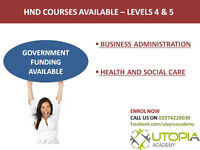 Business Administration / Health and Social Care Courses