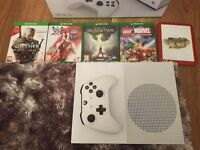 X BOX ONE S 500GB AND 5 GAMES!