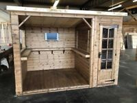 lovely outdoor bar from tongue and groove display model going cheap