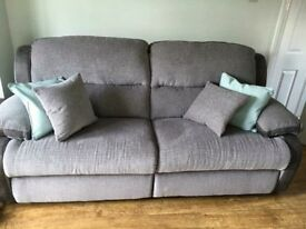 3 seater grey sofa LaZboy excellent condition