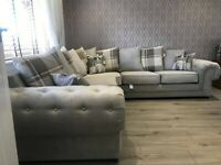 **LARGE CORNER CHESTERFIELD SOFA**BRAND NEW IN GREY AVAILABLE IN 3+2 AS WELL ORDER NOW