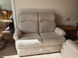 G Plan sofa and recline chair