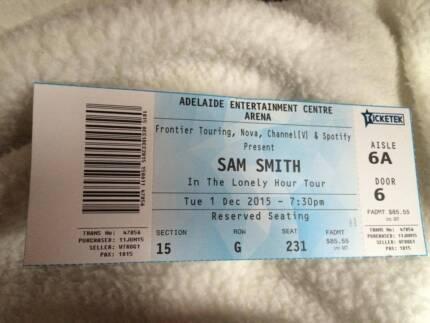 Sam Smith Ticket  Reynella Morphett Vale Area Preview
