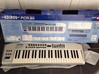 Edirol PCR-50 midi keyboard for sale £55