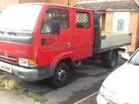Nissan Cabstar Crew cab E110 3.5t flat bed 6 seats 3 owners