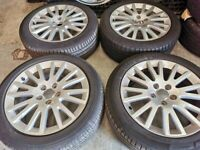 """17"""" GENUINE AUDI A3 ALLOY WHEELS / TYRES - 5 X 112 FITMENT"""
