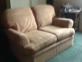 Two seater sofa, M&S suede in good condition from smoke-free home