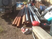 Underground drainage pipe 110mm Brett Martin. Unused. Other fitting available separately