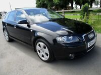 Audi A3 2.0 Tdi Sport 54 reg @ 132000 miles cam belt water pump replaced bargain * s line looks *