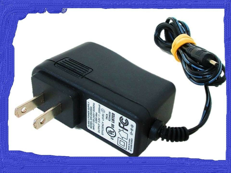 Class 2 Switching Power Supply Wall Charger AC Adapter SW-050200A 5V 2A 10W
