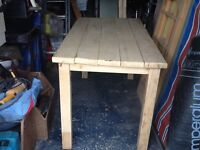 RUSTIC HANDMADE FROM NEW TIMBER PINE OBLONG TABLE
